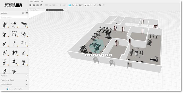 Votre future salle en 3D - FitnessBoutique
